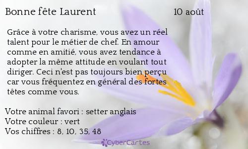 Carte Bonne Fete Laurent.Carte Bonne Fete Laurent 10 Aout