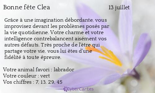carte bonne fte clea