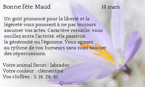Carte Bonne Fete Maud.Carte Bonne Fete Maud 14 Mars
