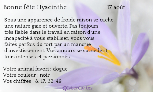 aujourd'hui , c' est la saint .................. - Page 4 Hyacinthe