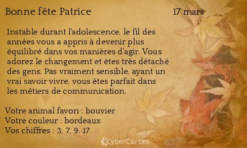 """Résultat de recherche d'images pour """"Bonne fête aux Patrick et patrice"""""""