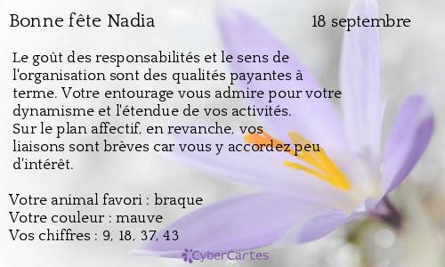Septembre se montre souvent comme un second et court printemps  - Page 9 Nadia