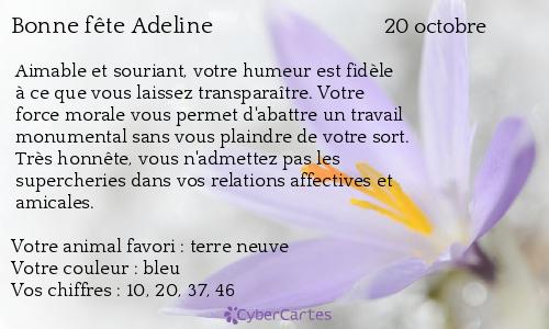 Carte bonne f te adeline 20 octobre - Image de carte de fete ...