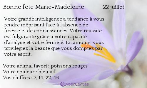 Carte bonne fête Marie-Madeleine