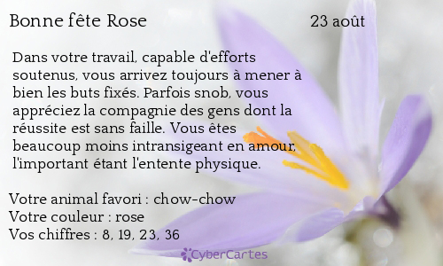 aujourd'hui , c' est la saint .................. - Page 4 Rose