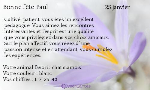 la célébrité de Martin du 25 janvier trouvée par Paul - Page 2 Paul