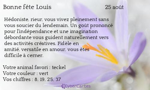 aujourd'hui , c' est la saint .................. - Page 4 Louis