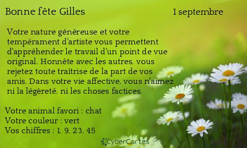 Fête du jour Gilles