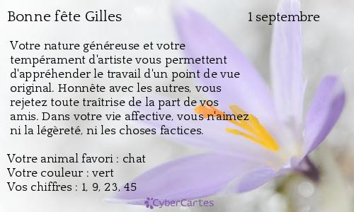 aujourd'hui , c' est la saint .................. - Page 4 Gilles