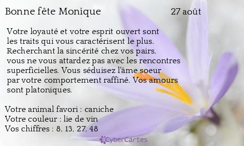 aujourd'hui , c' est la saint .................. - Page 4 Monique