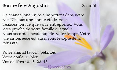 aujourd'hui , c' est la saint .................. - Page 4 Augustin
