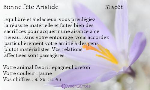 aujourd'hui , c' est la saint .................. - Page 4 Aristide