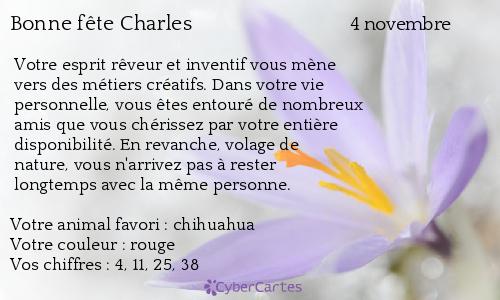 Carte Bonne Fete Charles.Carte Bonne Fete Charles 4 Novembre