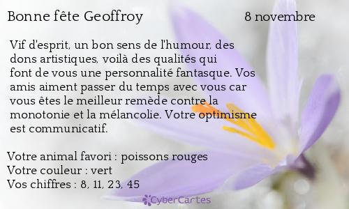 Carte bonne f te geoffroy 8 novembre - Geoffrey prenom ...